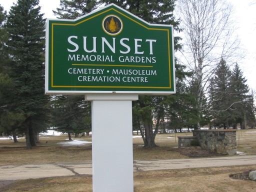 Canada for Sunset memory garden funeral home